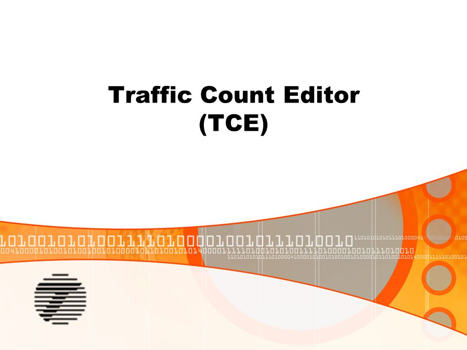Traffic Count Editor (TCE)