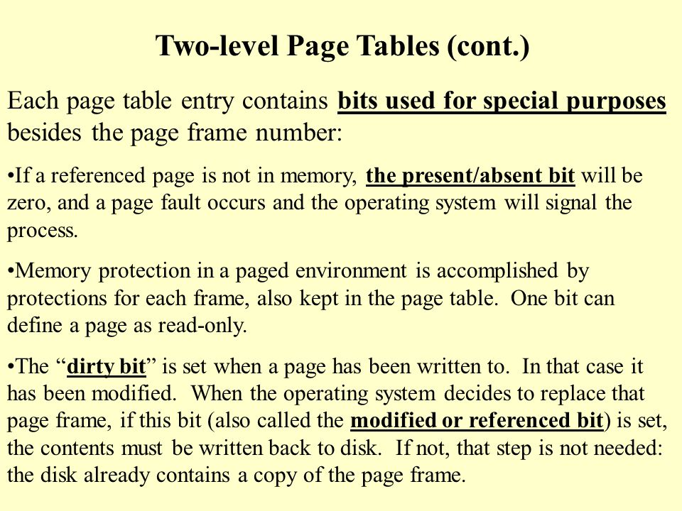 Diagram of previous example: Top-level page table: 1023 1010......