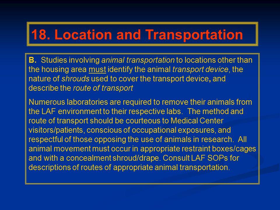 18. Location and Transportation B.