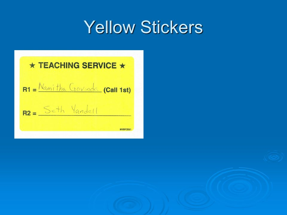 Yellow Stickers  Insert picture