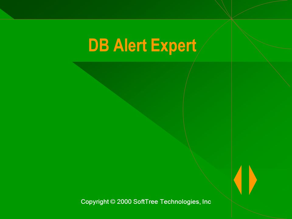 DB Alert Expert Copyright © 2000 SoftTree Technologies, Inc