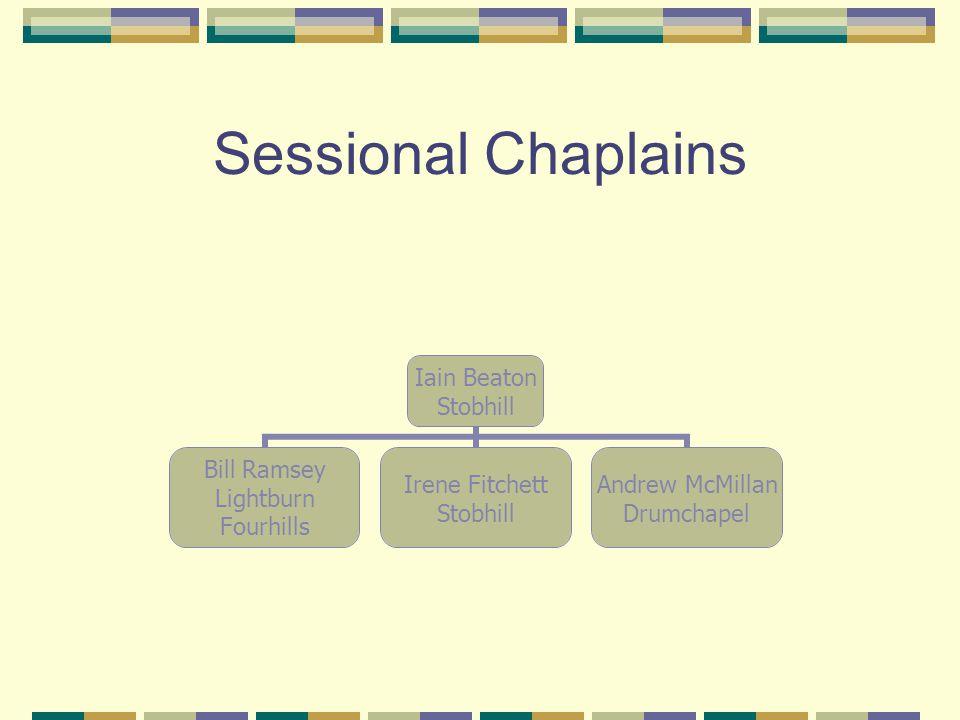 Sessional Chaplains Iain Beaton Stobhill Bill Ramsey Lightburn Fourhills Irene Fitchett Stobhill Andrew McMillan Drumchapel