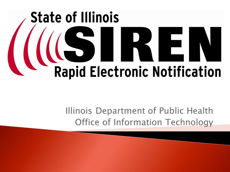 Illinois Department of Public Health Office of Information Technology