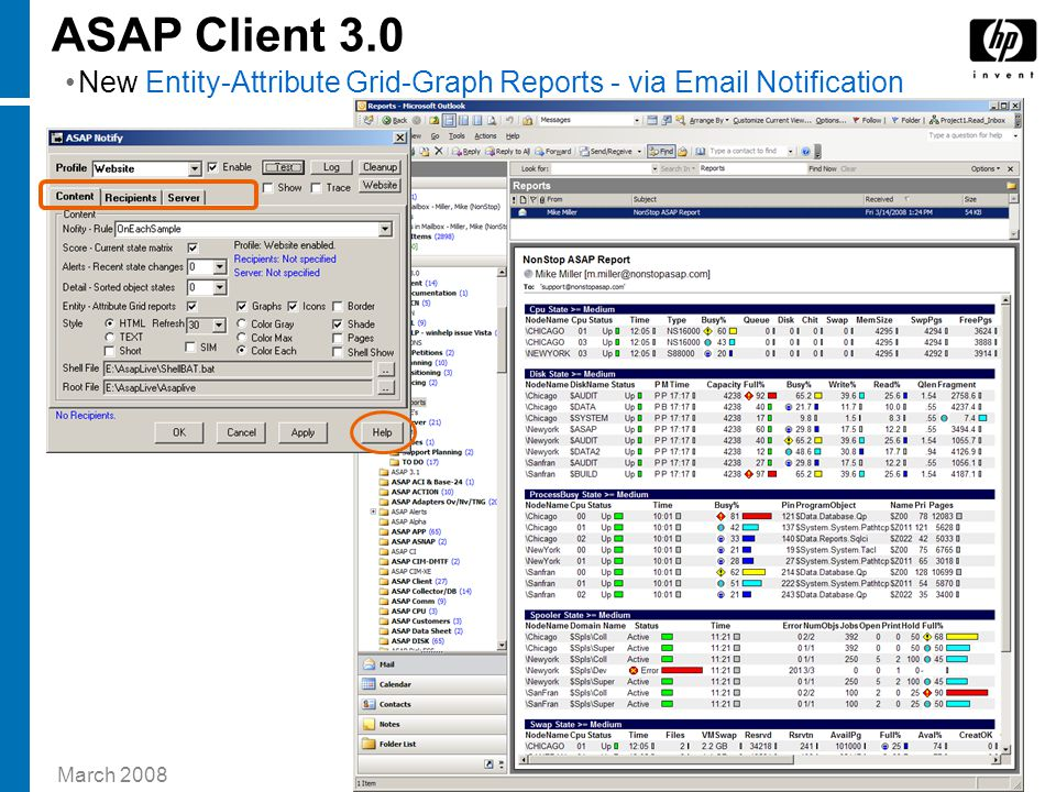 March 2008 16HP TOI Template — ASAP Client 3.0 New Entity-Attribute Grid-Graph Reports - via Email Notification