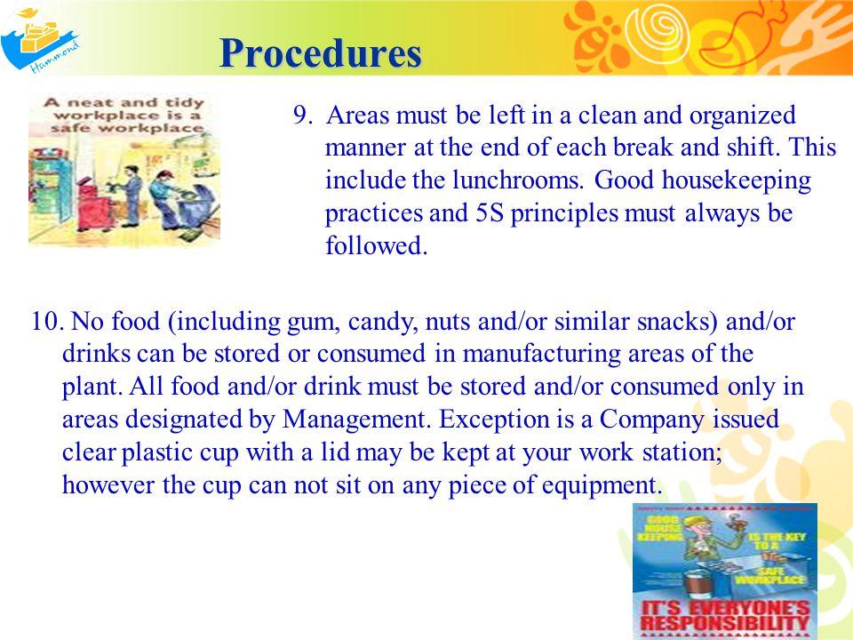 Procedures Procedures 11.