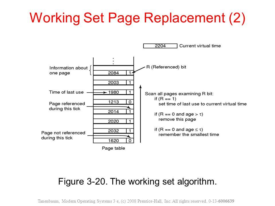 Figure 3-20. The working set algorithm.
