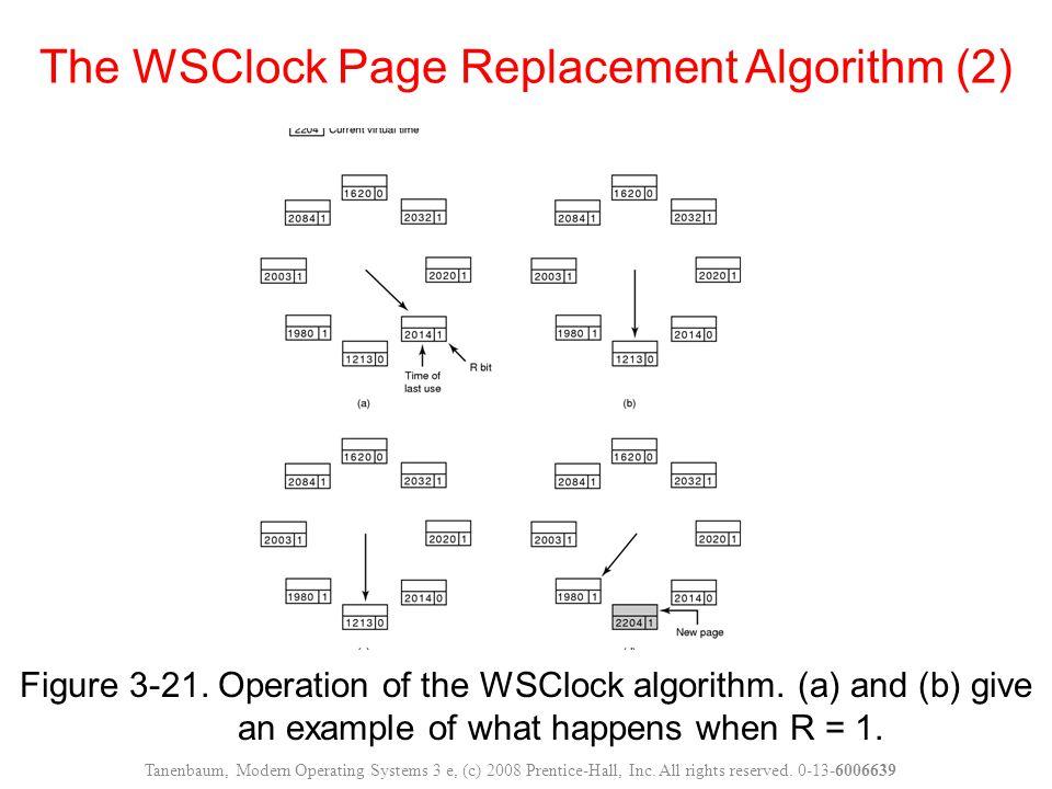 Figure 3-21. Operation of the WSClock algorithm.