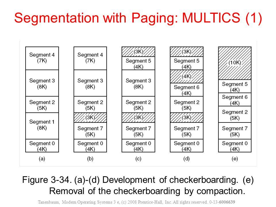 Figure 3-34. (a)-(d) Development of checkerboarding.