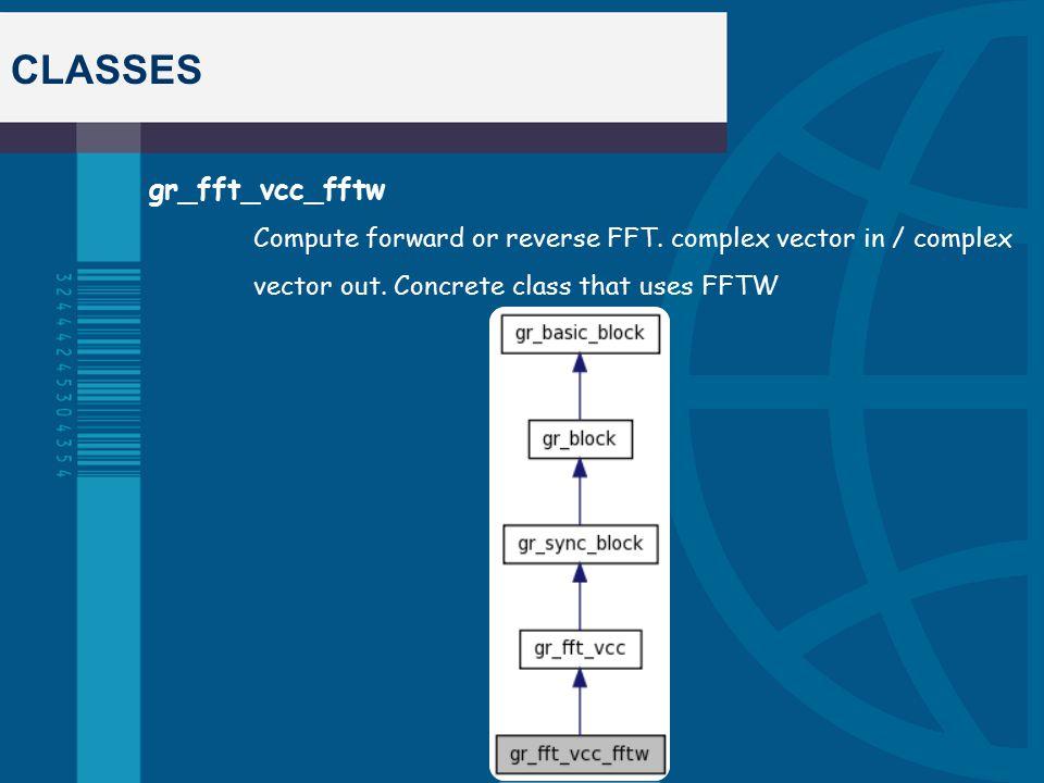 CLASSES gr_fft_vcc_fftw Compute forward or reverse FFT.