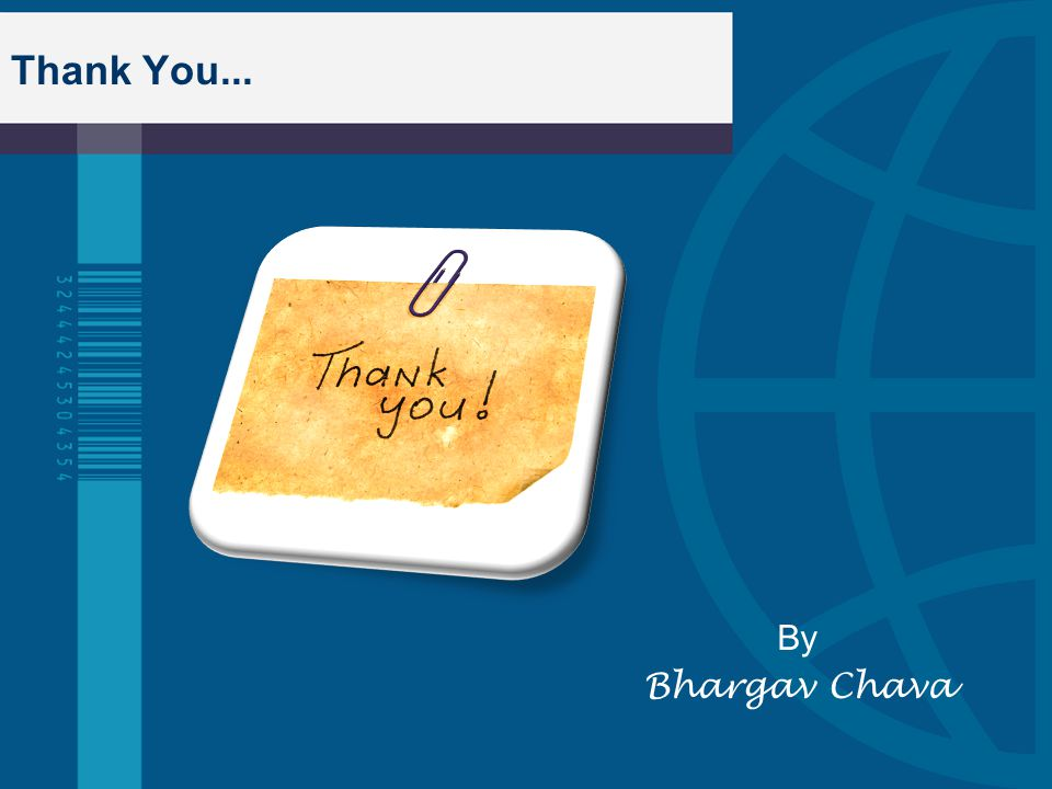 Thank You... By Bhargav Chava