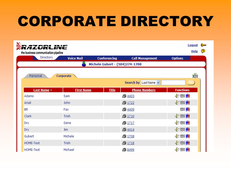 CORPORATE DIRECTORY