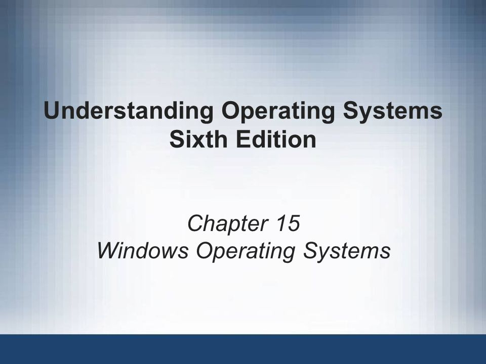 Understanding Operating Systems, Sixth Edition2 Learning Objectives After completing this chapter, you should be able to describe: The design goals for Windows operating systems The role of MS-DOS in early Windows releases The role of the Memory Manager and Virtual Memory Manager The use of the Device, Processor, and Network Managers System security challenges The Windows user interface