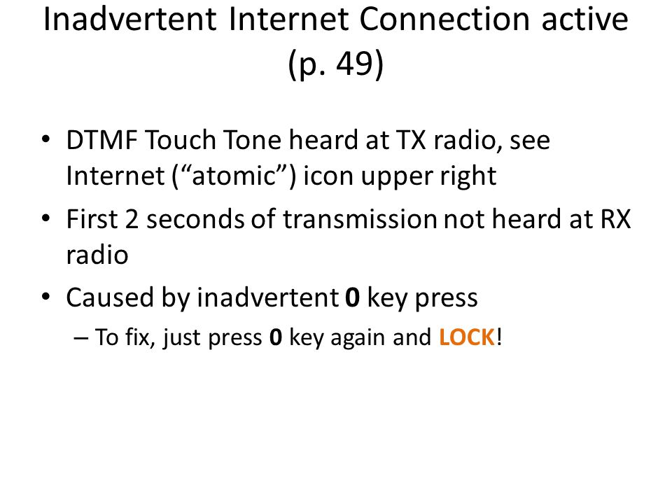 Inadvertent Internet Connection active (p.