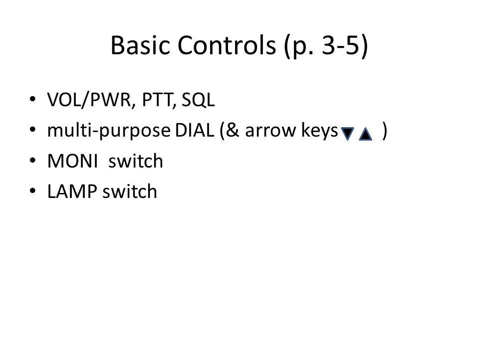 Basic Controls (p.