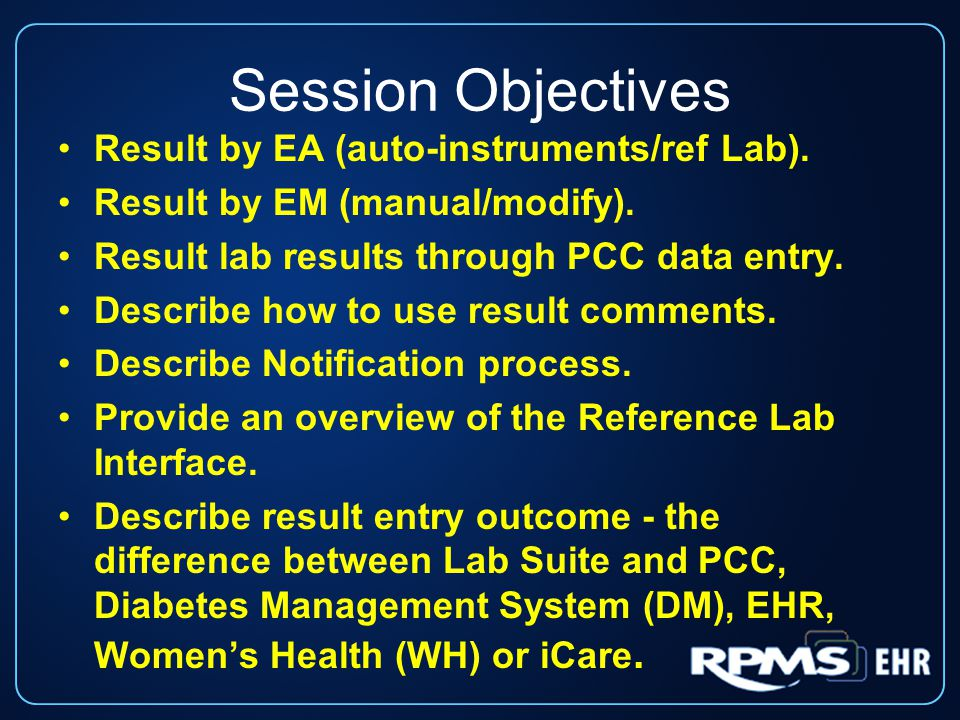Session Objectives Result by EA (auto-instruments/ref Lab).