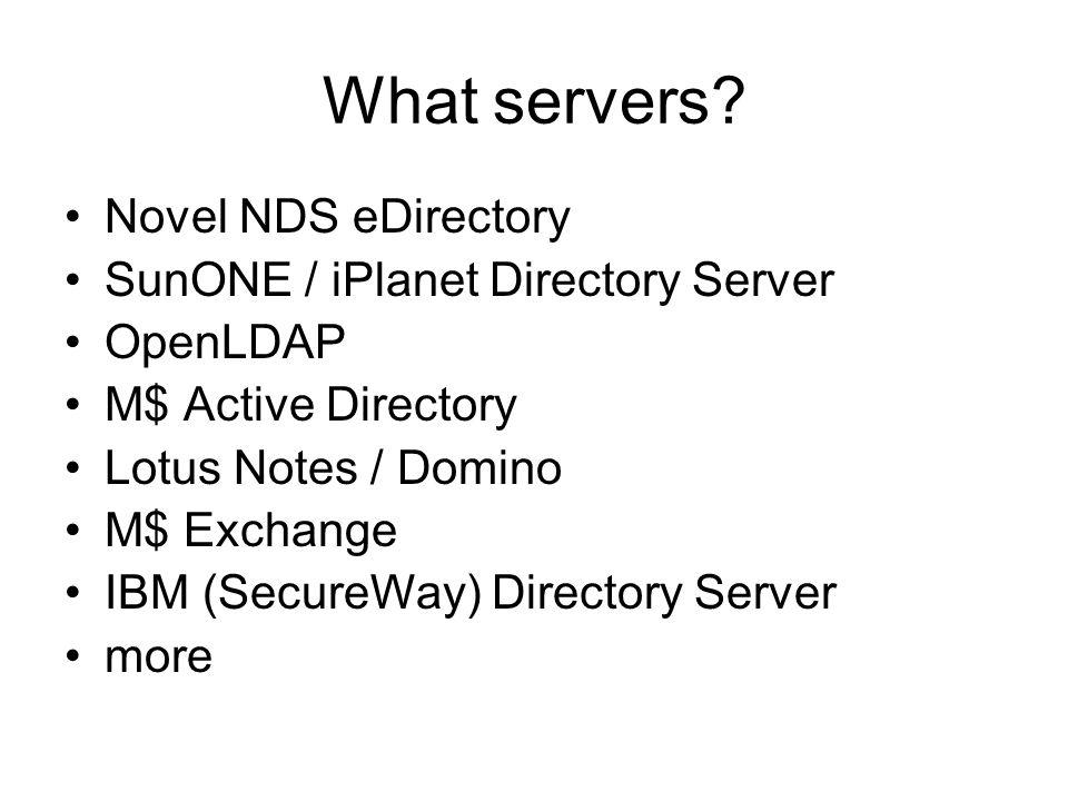 What servers.