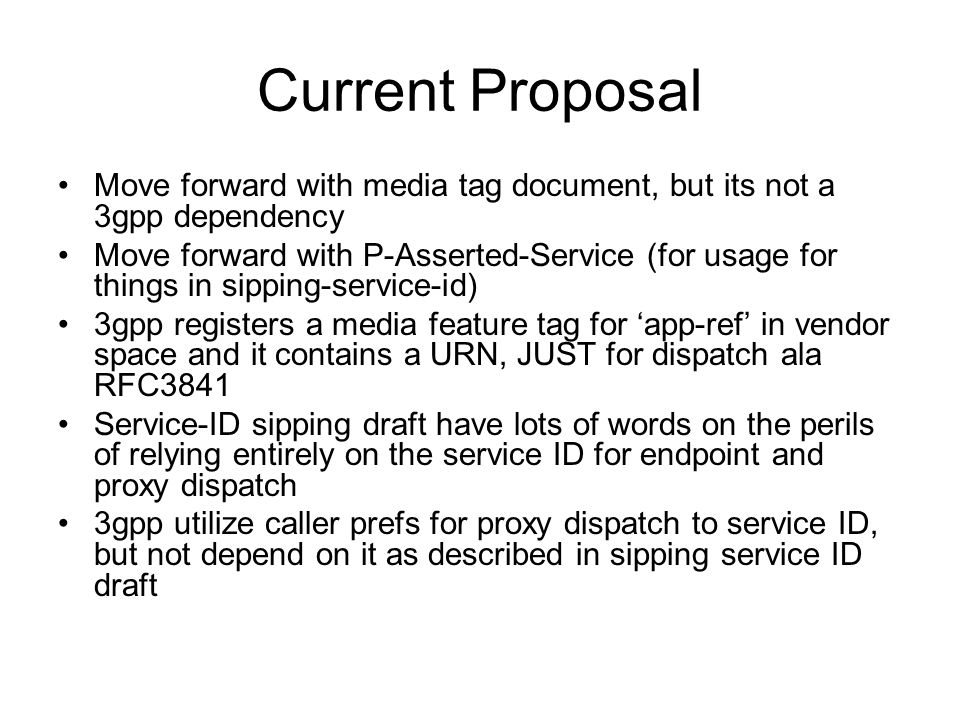 Questions Question 1: adopt draft-rosenberg-sipping- service-identification as WG item.