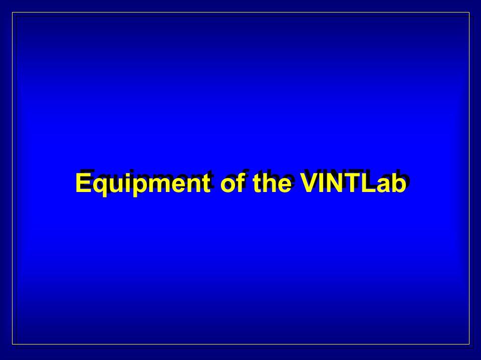 Equipment of the VINTLab