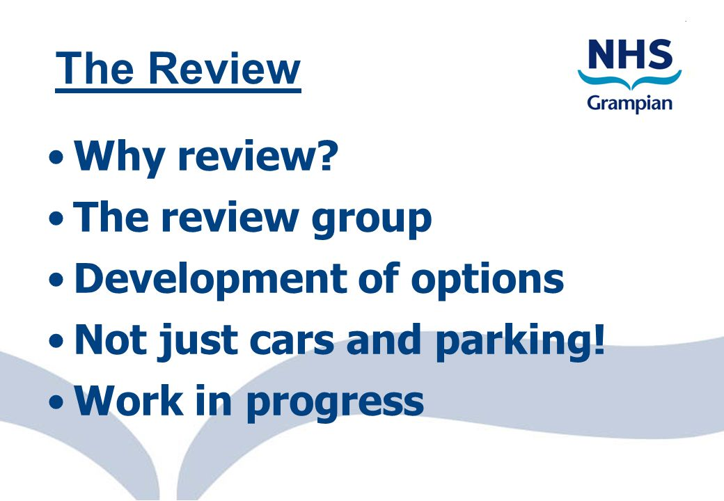 eProcurement Scotl@nd 2 Why review? The review group Development of options Not just cars and parking! Work in progress The Review