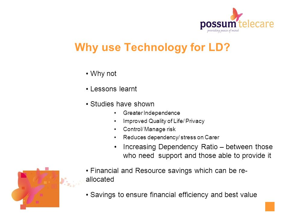 Why use Technology for LD.