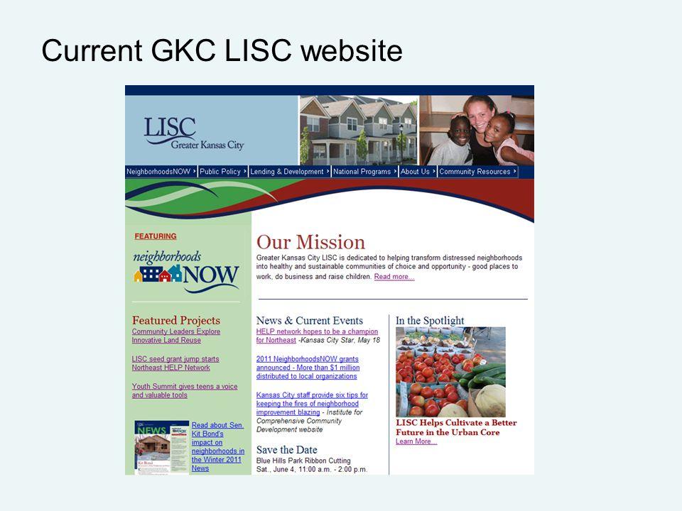 Current GKC LISC website