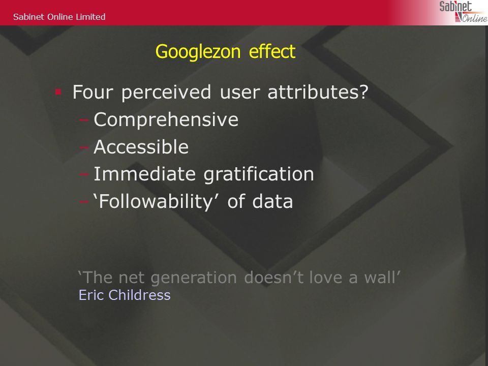  Four perceived user attributes.