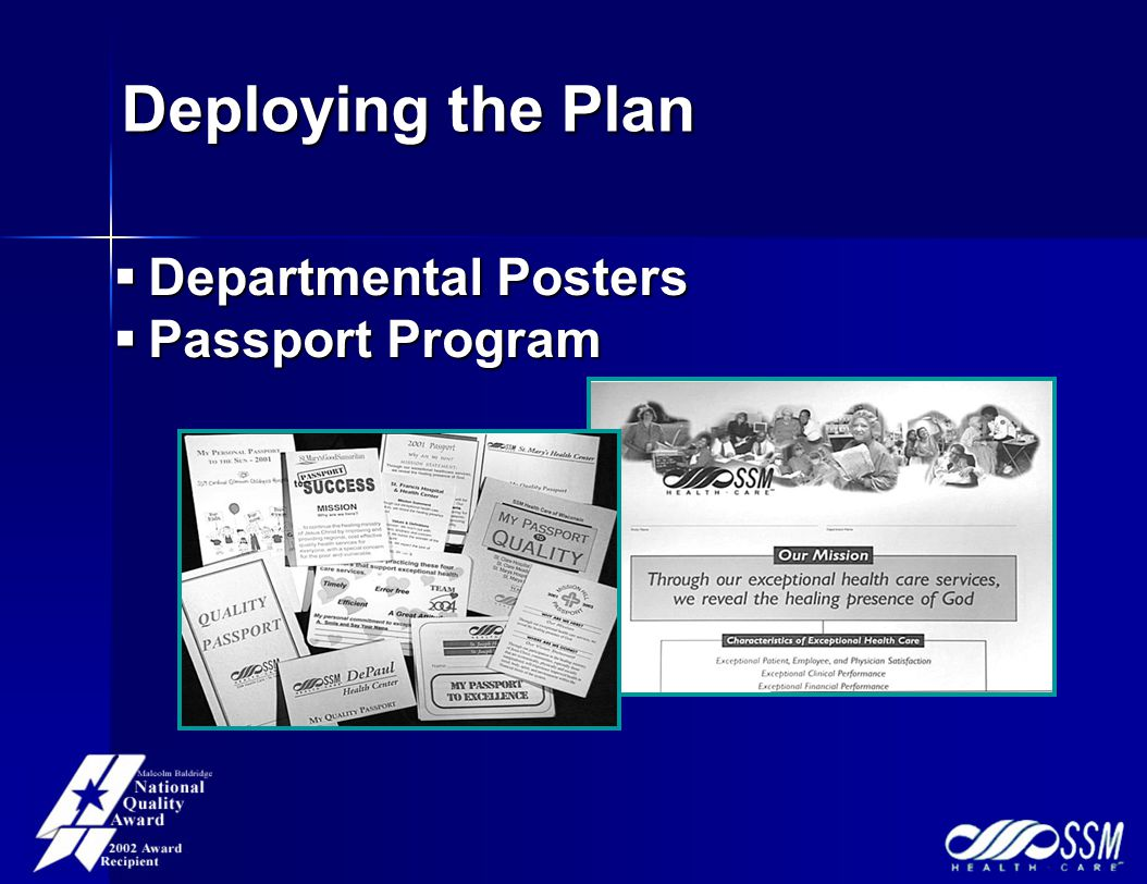 Deploying the Plan  Departmental Posters  Passport Program