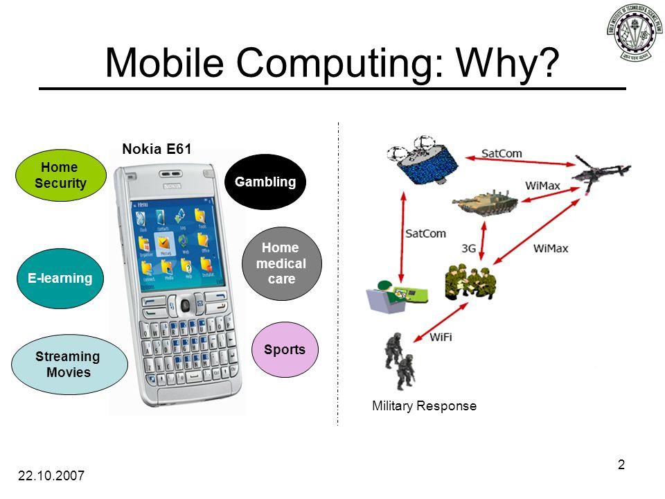 22.10.2007 2 Mobile Computing: Why.