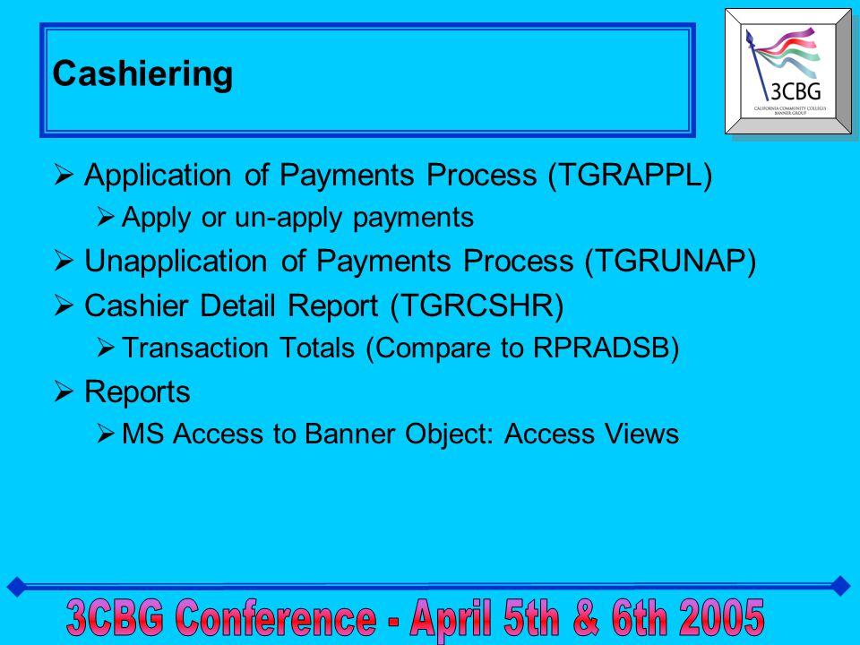 Cashier Supervisory (TSACSPV)