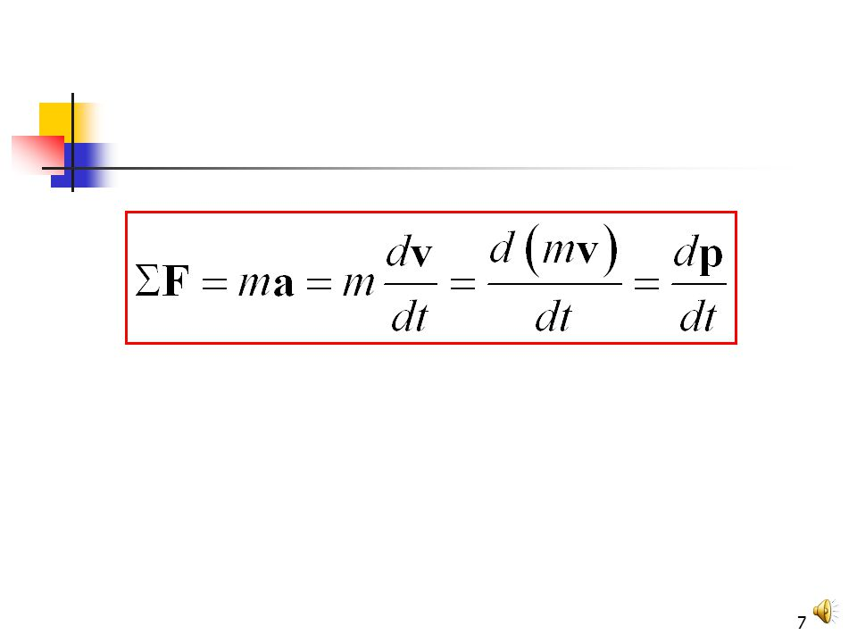 6 Newton and Momentum mv quantity of motion Newton called the product mv the quantity of motion of the particle