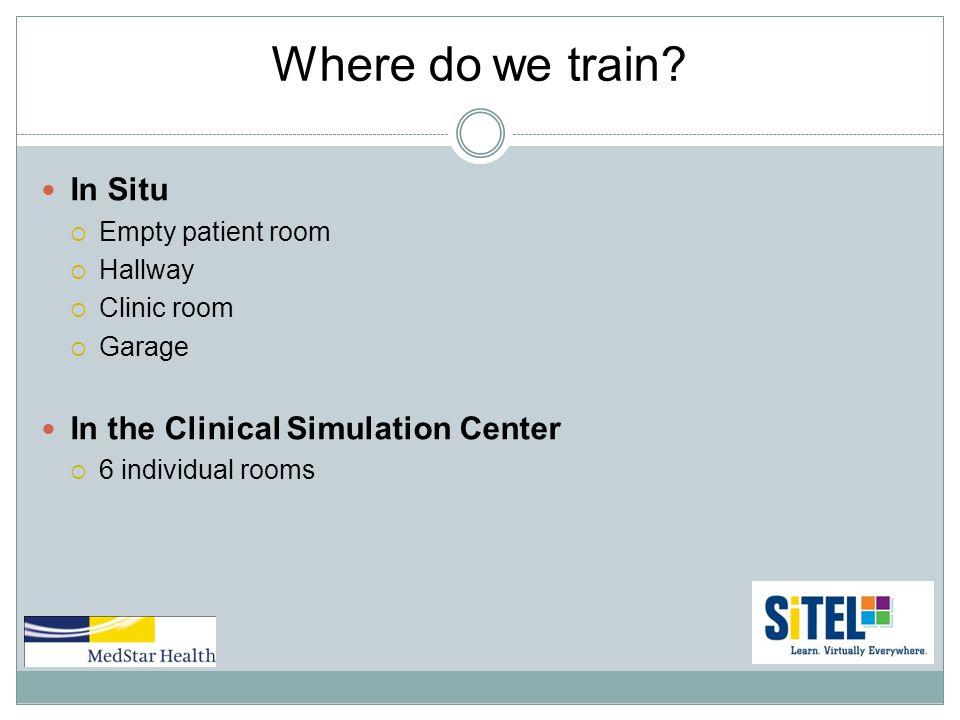 Where do we train.
