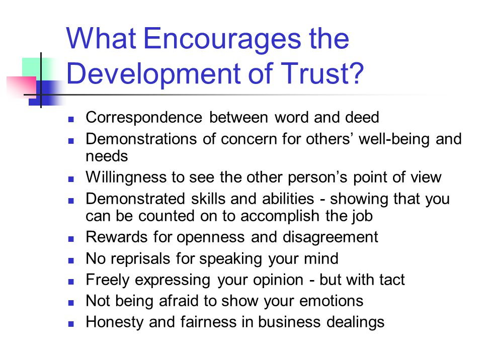The Three Elements of Trust