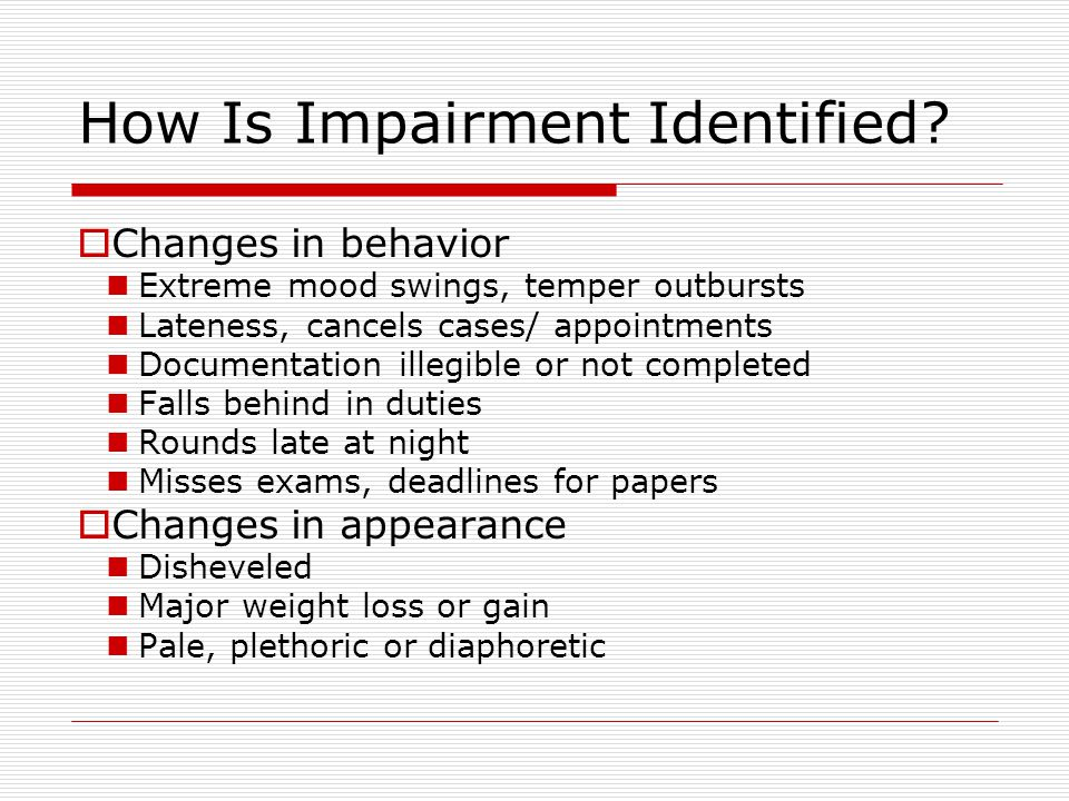How Is Impairment Identified.