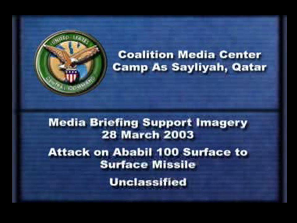 Summary of Launches against Kuwait 8 7 6 5 4 1 2 3 O O O O O 1 10 9 12 DTG: 232159Z Mar 03 1 X Al Samoud DISTANCE: 160 km EW: None TARGETS: Camp UDAIRI C/5-52 engaged w/ 1 x PAC II and 2 x GEM BDA: Missile destroyed 7 DTG: 241042Z Mar 03 1 x Al Samoud DISTANCE: 152 km EW: AMDWS, PAWS, COBRA JUDY TARGETS: Camps VA, UDAIRI, N.