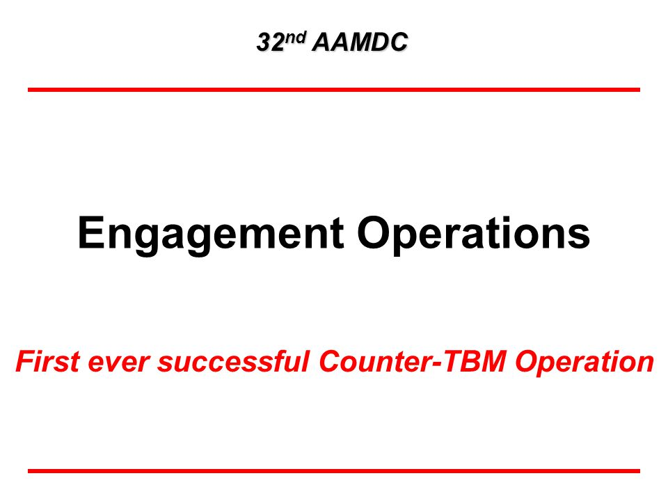 32 nd fully integrated with CFACC as part of the Counter-TBM Team (C-TBM) C-TBM team's analysis and collection resulted in 30 of the 61 TSTs against TBM equipment / Others were located by national agencies or targets of opportunity Combined Theater C-TBM attack operations credited with destroying 76% of assessed launchers C-TBM team designated as the OIF authority for all TBM collection, targeting, and BDA Disrupted the Iraqi TBM campaign plan by destroying 3 launchers prior to initiation of combat = TST against TBM Equipment OIF Counter-TBM Fight ``We are positioned in Western Iraq with aircraft, reconnaissance, surveillance and ground platforms and people on the ground to ensure we can contain any missile strikes attempted by Iraq against neighboring countries, Joint Chiefs of Staff Chairman General Richard Myers