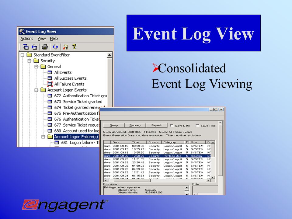 Event Log Archiving with Event Log Sentry  Archives raw.EVT files to back-up server
