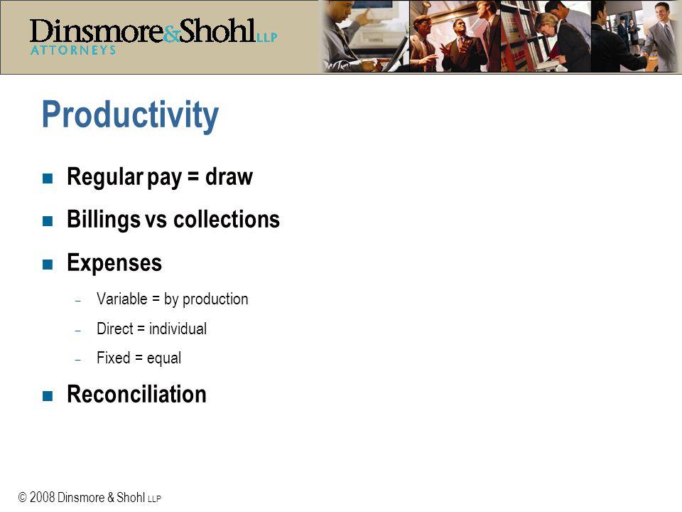 © 2008 Dinsmore & Shohl LLP Next Phase - Shareholder, Member or Partner status n When does it happen.