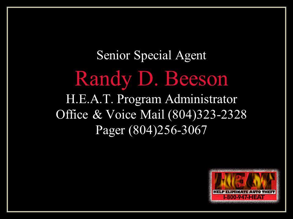 Senior Special Agent Randy D.Beeson H.E.A.T.