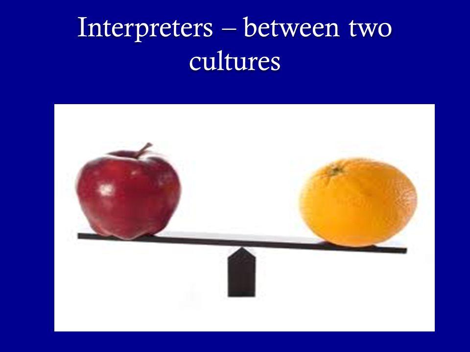 Interpreters – between two cultures