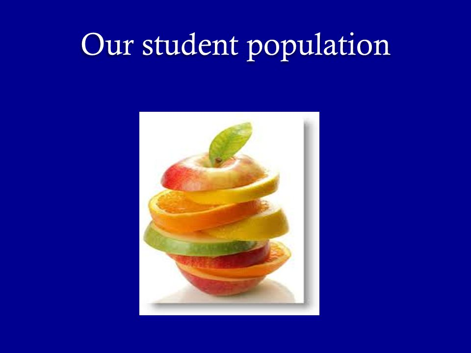 Our student population