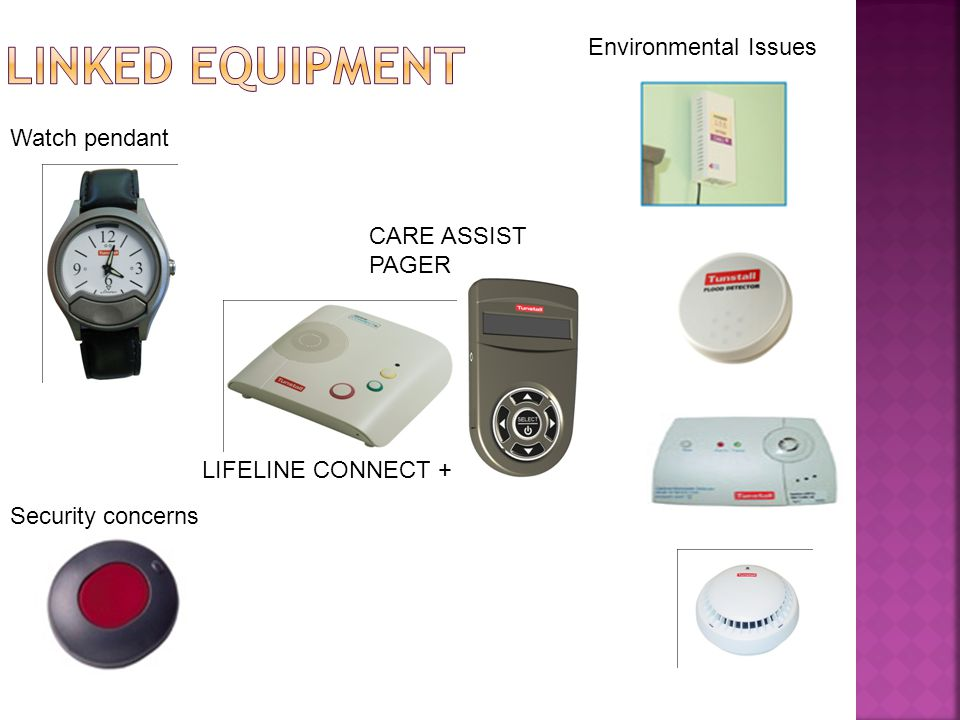 LIFELINE CONNECT + CARE ASSIST PAGER Security concerns Watch pendant Environmental Issues