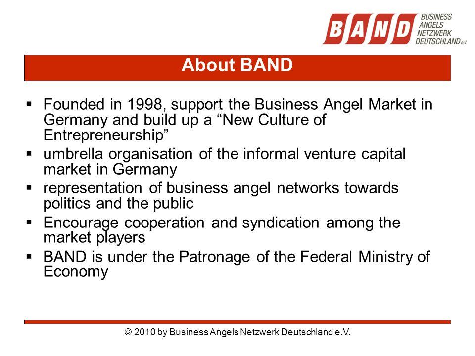 © 2010 by Business Angels Netzwerk Deutschland e.V.