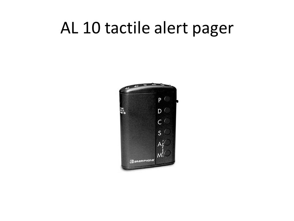 AL 10 tactile alert pager