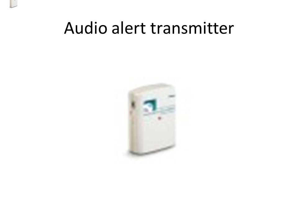Audio alert transmitter