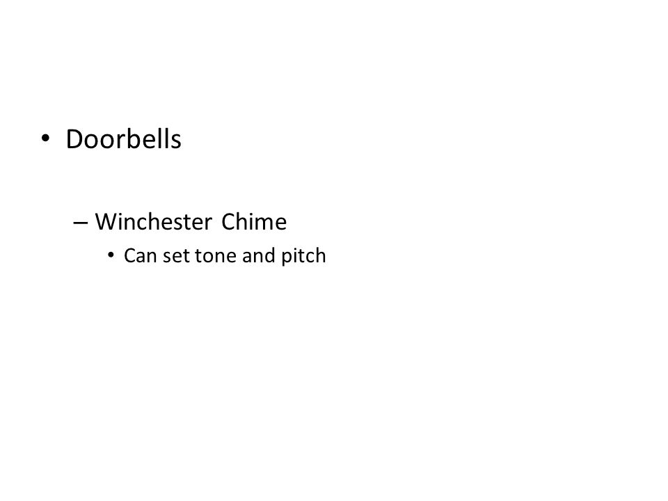 Doorbells – Winchester Chime Can set tone and pitch