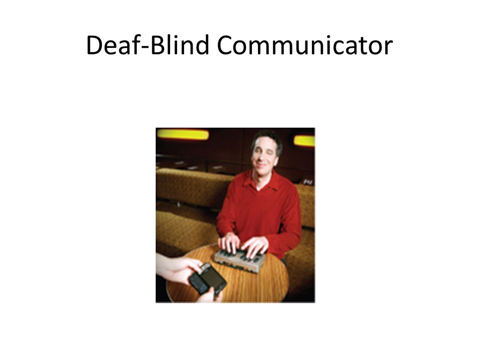 Deaf-Blind Communicator