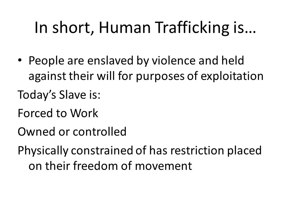 Discussion What are the similarities among the regions and their path of migrations/trafficking.