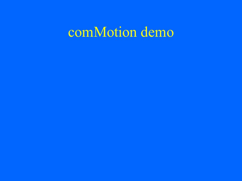 comMotion demo