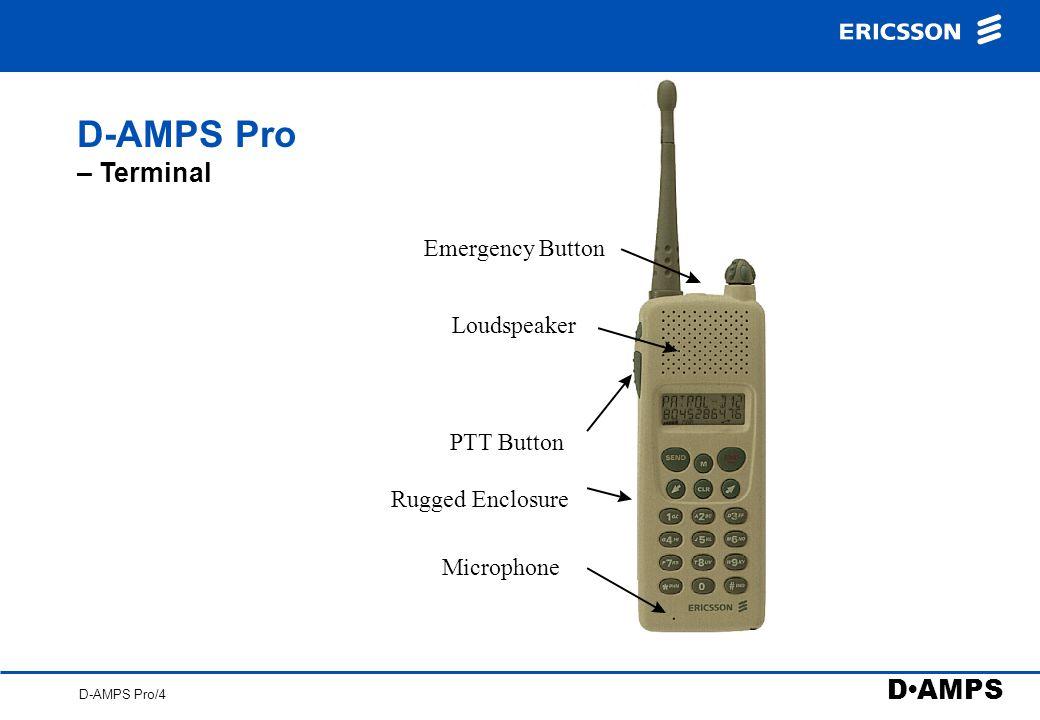 D AMPS D-AMPS Pro/4 D-AMPS Pro – Terminal PTT Button Emergency Button Loudspeaker Microphone Rugged Enclosure