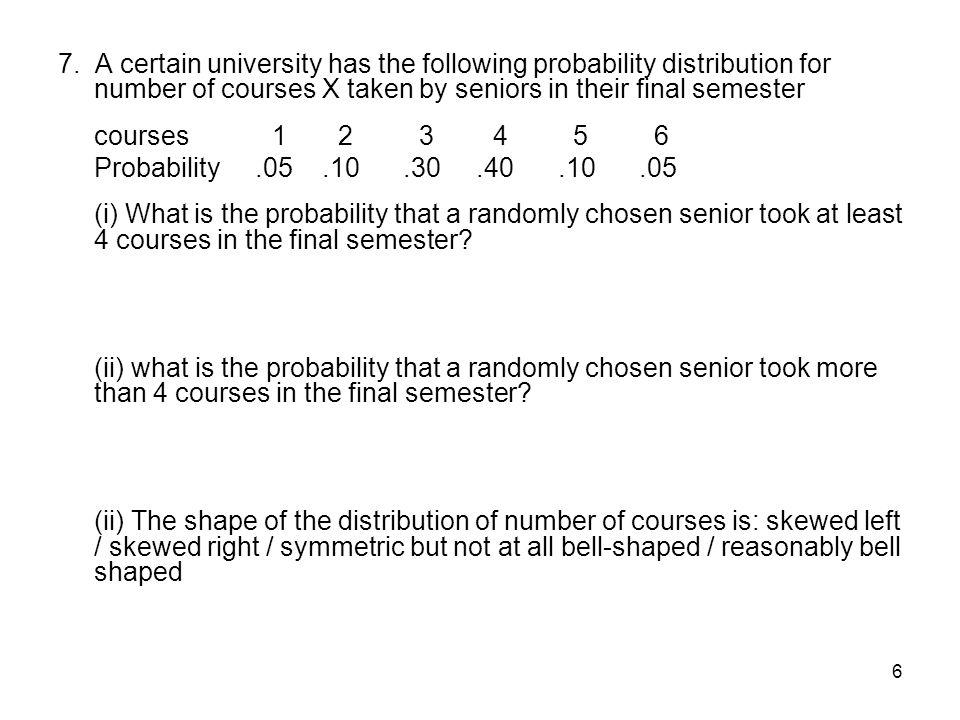 7 8.A surprise quiz contains 3 multiple choice questions.